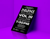 DROME Launch Party Invite