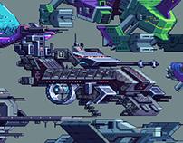 Sketch to Pixel ships