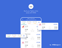 VOKA Flight booking UI KIT with Android XML code