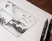 Enviroments - Pen & Ink