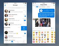 Free Messenger UI Kit Sketch