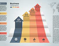 Free Abstract Modern Business Infographics