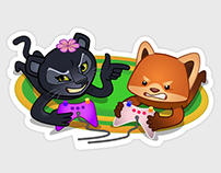 Stickers for Viber. Weekend