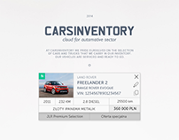 Carsinventory. Cloud for automotive sector