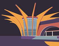 Central Bus Station in Hrazdan | Soviet Modernism