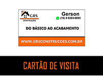 Cartão de Visita - GRS Construções