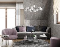 Modern interior open space