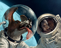 Mini-story about Spacedog