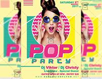 Pop Party - Premium A5 Flyer Template