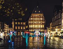 2017-10-28 - Lightpainting Marktplatz Hildesheim