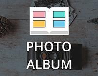 Photo Album home page design