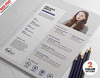 Clean and Fresh Resume Design PSDTemplate