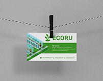 Дизайн визитки ECORU