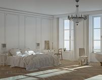 View bedroom 3d render