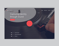 Espen Andersen Website & Audio Visualizer