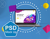 Abstract MacBook Pro MockUp