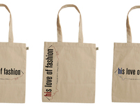 'His love of fashion' .blogspot logo