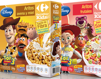 Disney Pixar + Carrefour co-branding: Packaging Design
