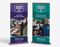 Highline College Pathways - Vertical Banners