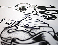 SMOKE ON THE WATER - Serigraphie