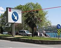 NISSAN traffic sign billboards
