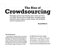 The Rise of Crowdsourcing