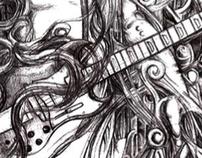 smoke guitarist