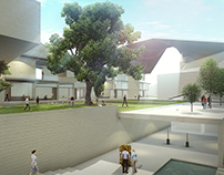 3D Arch Viz University Building - Animation