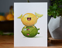 Sour-heads Greeting Card