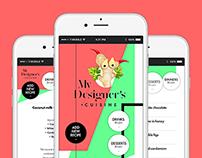 My Designer's Cuisine – mobile app