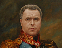 oil painting portrait in costume