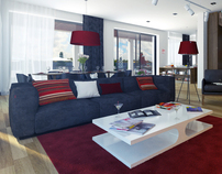 Living Room Interior RED