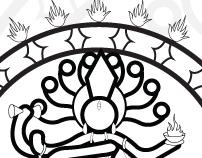 Postcard design - Hindu's God