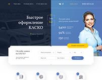 Landing page Safecar