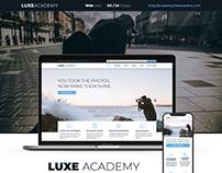 Website for LUXE ACADEMY