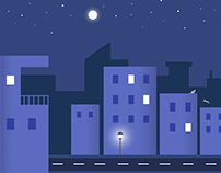 Night Scene Illustration