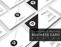 Corporate & Minimal business card Design