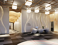 3D Rendering for a Lobby in the Business Center
