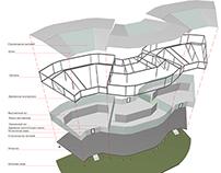 Modular collapsible pavilion, preliminary design
