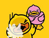 Sticker of B.Duck & Pink
