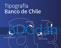 Tipografía corporativa Banco de Chile