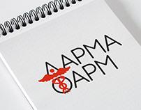 Дарма Фарм logotype design