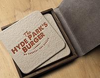HYDE PARK'S BURGER branding