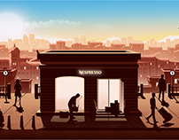 Nespresso Boutique Illustrations