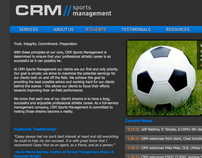 CRM Sports Management Website