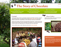The Story of Chocolate Website (Version B)