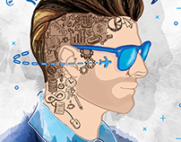 YOUNG BUSINESS MAN illustration