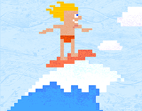 Pixel Love Art goes to surfing to Australia