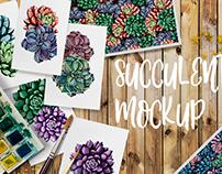 Succulent mockup in Creative Market