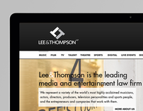 Lee & Thompson- Media & Entertainment Law Firm Website